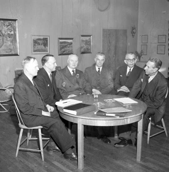 """Enligt notering: """"Nordisk jordbrukskonferens på Bohusgården april -58""""."""