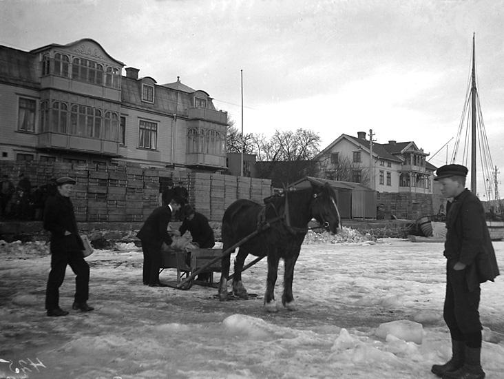 Posttransport en kall vinter på 1920-talet