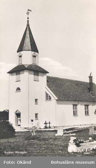 """Tryckt text på kortet: """"Kyrkan, Käringön""""."""