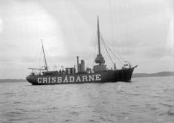 """Enligt text som medföljde bilden: """"Fyrskeppet Grisbådarne Ju"""