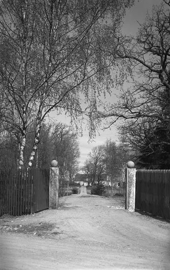 """Enligt fotografens noteringar för bild 1941 och 1942: """"Foss Kyrka & Foss Prästgård""""."""