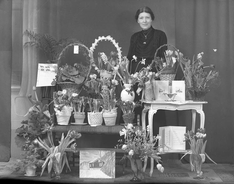 """Enligt fotografens noteringar: """"1943 Selma Sahlberg 60 år Lyckebo Munkedal""""."""