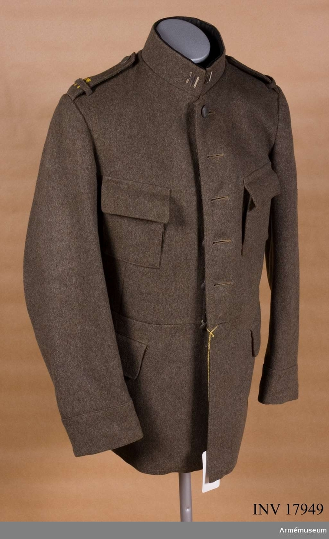 Grupp C I.  Ur uniform m/1923 för manskap vid Bohusläns infanteriregemente (se samhörande).