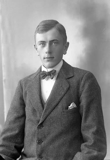 """Enligt fotografens journal nr 4 1918-1922: """"Andersson, Birger Ödsmål""""."""