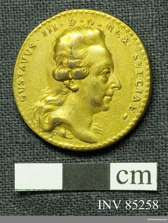 Grupp M II.   Medalj till minne av svenska örlogsflottans seger vid Hogland 17 juli 1788 under Hertig Karls befäl.