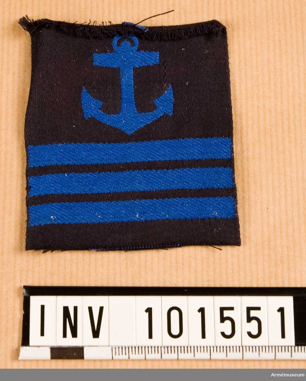 Gradbeteckning: däck, värnpliktig, furir, marinen.