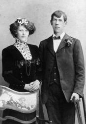 Brudparet Karin och Karl Hansson Forsberg, 20 maj 1911