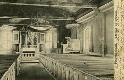 Notering på kortet: Interiör af Fiskebäckskils kyrka.