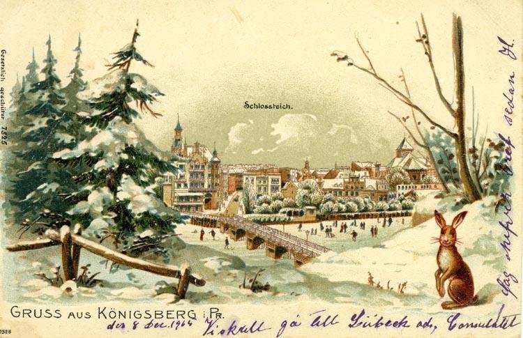 Notering på kortet: Gruss aus Köningsberg.