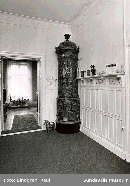 Kyrkogatan 8 . Inredning i våning 1.