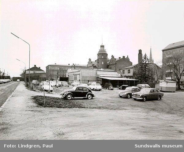 Sundsvalls stads obebyggda tomter i kvarteret Borgmästaren
