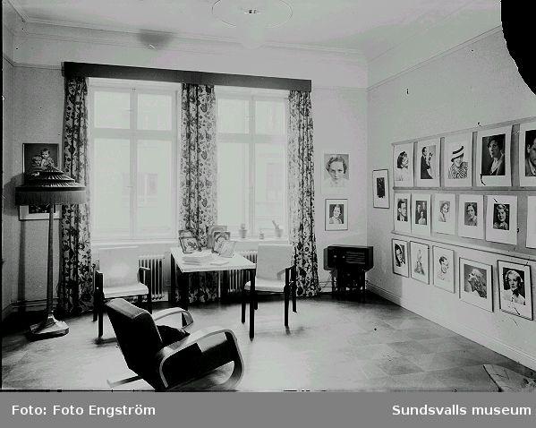 Foto Engströms ateljé, väntrum.