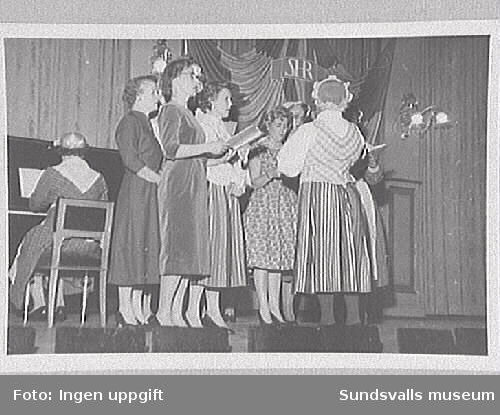 Sundsvalls Martha-förenings sångkör, 1950-talet.