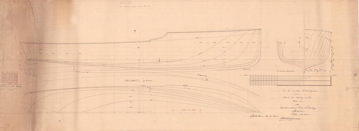 Skiss; Spantruta och linjeritning