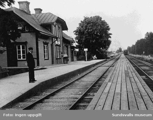 Järnvägsstationen i Töva.