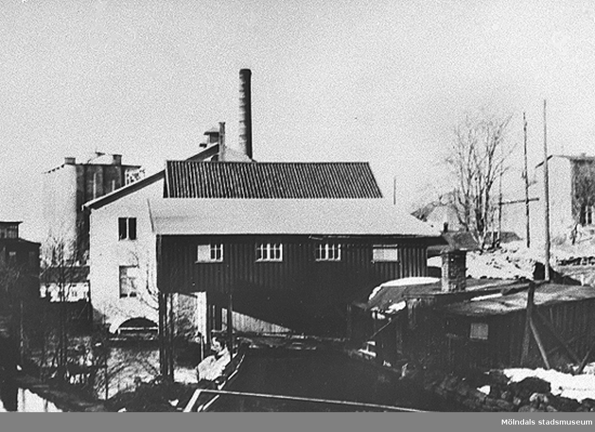 """Området omkring Viktor Samuelssons fabrik, strumpfabriken """"Strumpan""""."""