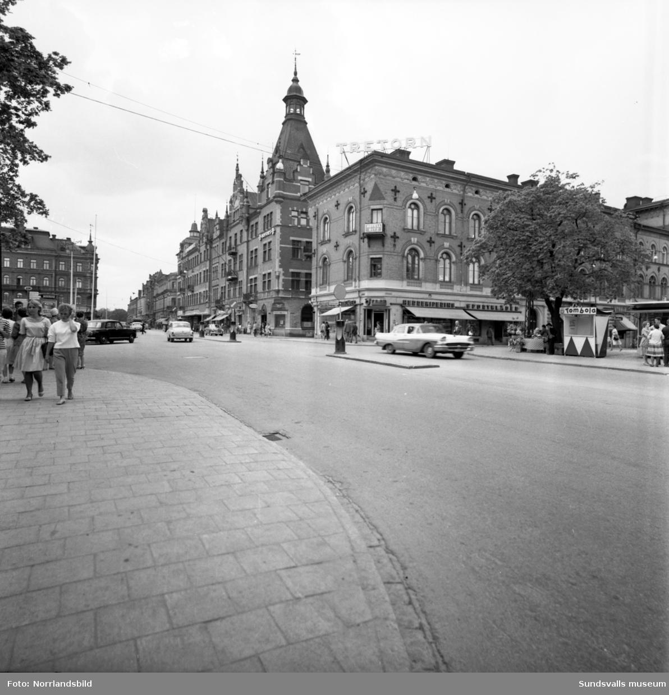 Storgatan vid korsningen med Esplanaden.