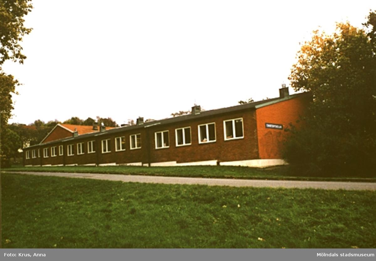 1950-tals skolbyggnad i Lindome.