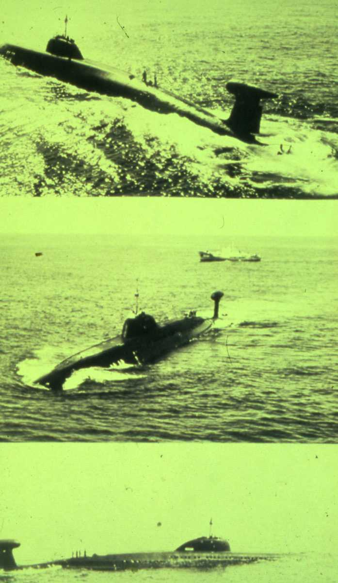 Russisk ubåt av Modifisert Victor III - klassen.
