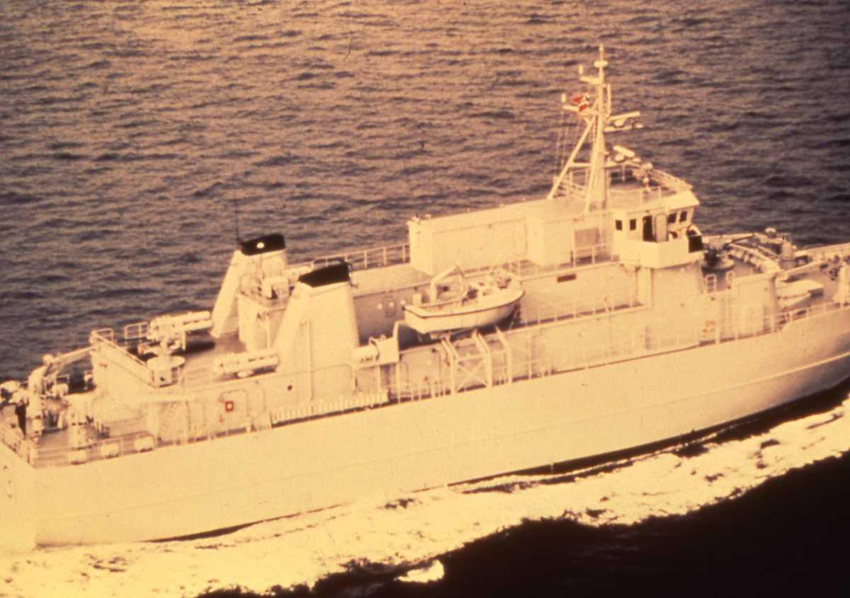 Norsk fartøy av Vidar - klassen med nr. N 53 og som heter Vale.