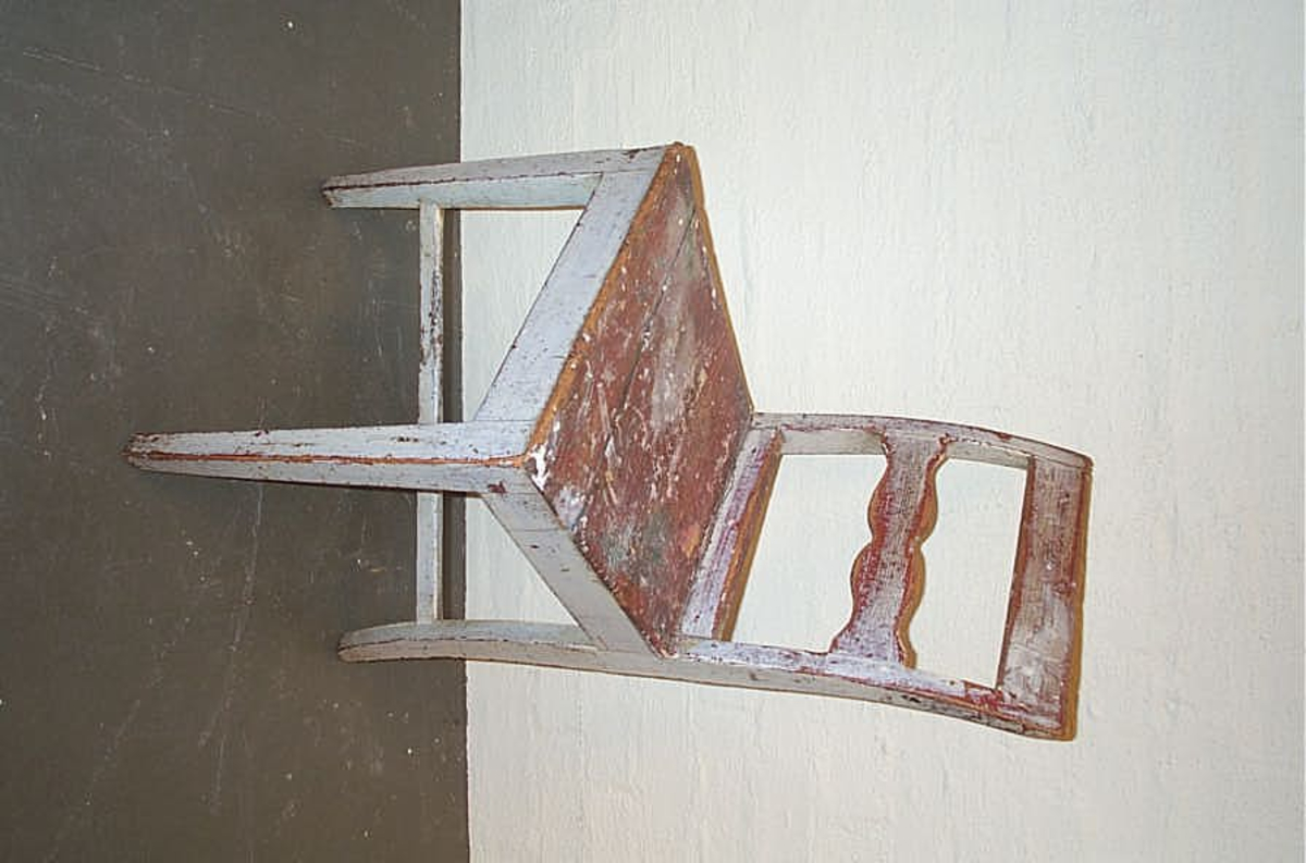 Form: Enkel bølgjedekor i horisontal ryggspil - kvadratisk sete