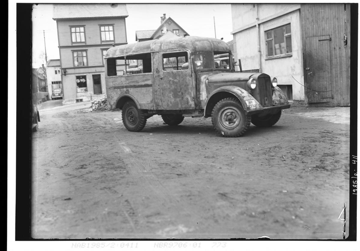 Ex-tysk militærbil Horch 901  med ombygd karosseri