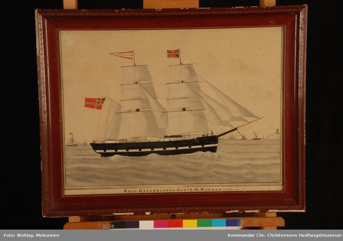 ØSTER-RIISØER Nasjon: Norsk Type: Brigg Byggeår: 1831 Byggested: Risør, Norge Ombygging: Reparert 1867