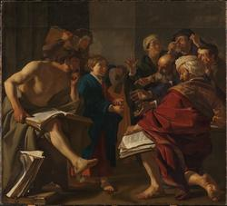 Kristus som barn i tempelet [Maleri]