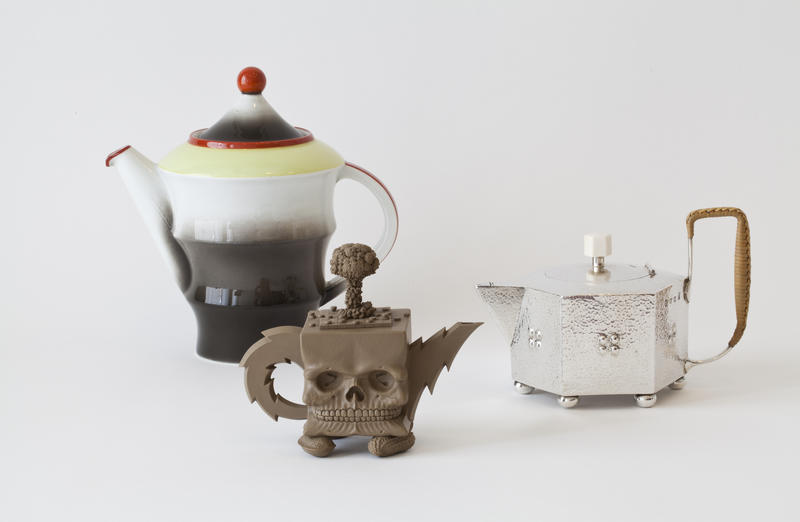 Three pots for coffee and tea from the museum's collection