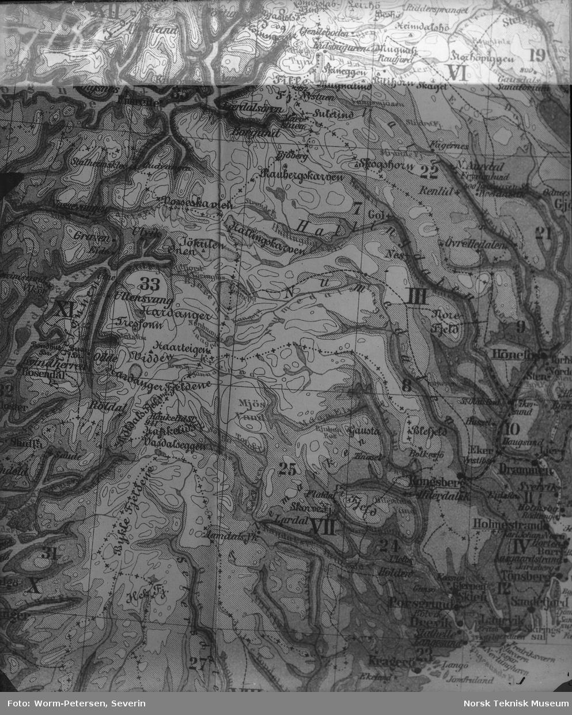 kart over numedal Kart over del af Norge   Norsk Teknisk Museum / DigitaltMuseum kart over numedal