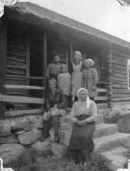 Frå Heggeslettene (Heggjislettat'n) i Hemsedal, ca. 1940. F