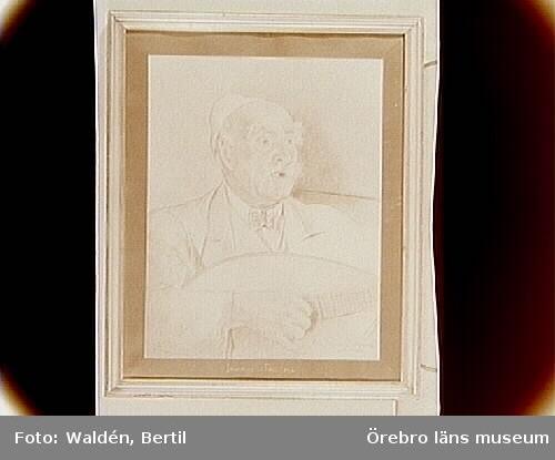 Örebro Läns Museum, tavelsamlingen.Vizzone-Hallgren, Tora: 'Jeremias i Tröstlösa'/ förf. Levi Rickson i Örebro. Färgkritsteckning på papper.Inv.nr. 18783.