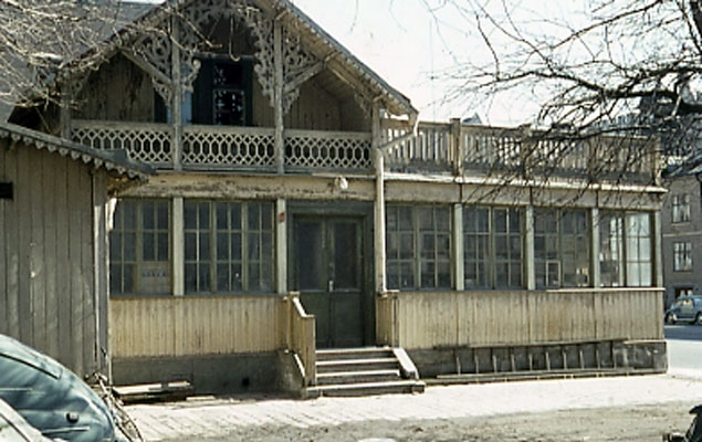 Café National, Rudbecksgatan 25. Här bildades ÖSK.