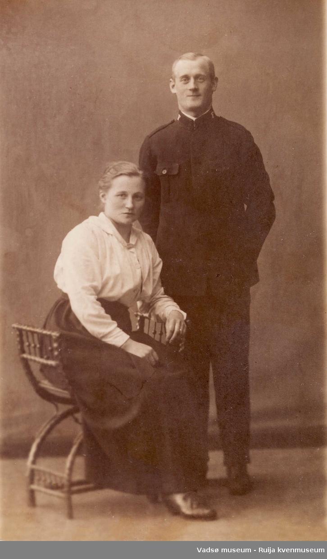 Kolanordmenn. Søsknene Lisette og Sigurd Knudsen ca 1910