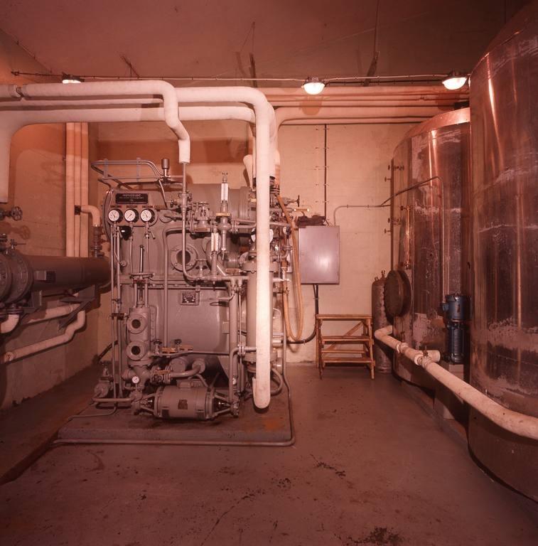 Teknisk bygg, evaporator.