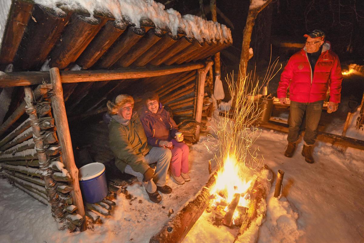 God stemning ved nyingen under åpningen av Friluftslivets år 13/1 2015.