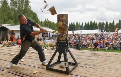 Stihl timbersport under De nordiske jakt- og fiskedager 2014.