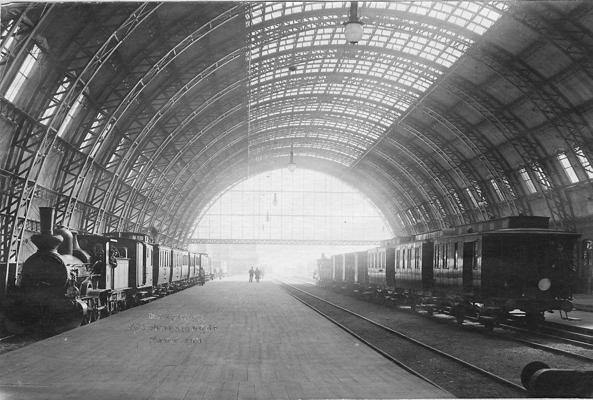 Malmö Järnvägsstation 1906. Bild från tidskriften Hemmets bildmaterial.