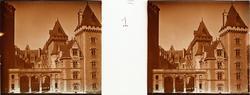 "Stereobild av fasad till Château de Pau. ""Facade principale"