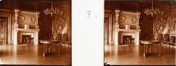 "Stereobild av familjesalongen i Chateau de Pau. ""Salon de F"