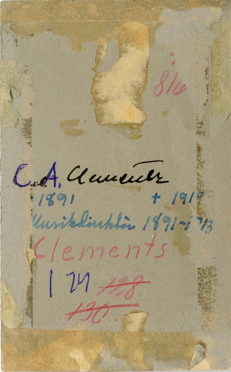 Porträtt av Carl Anders Clementz, musikdirektör vid Hälsinge regemente I 14.