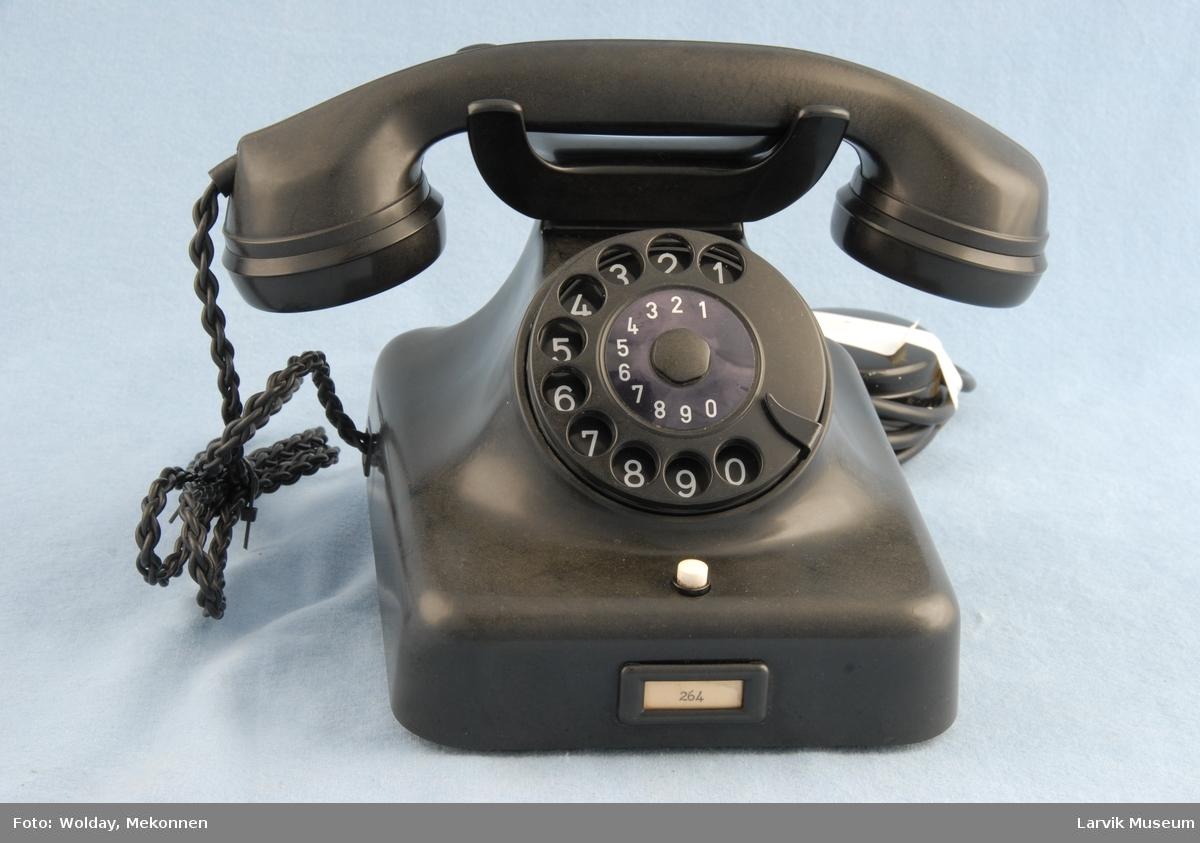 Form: Telefon m/høy gaffel for telefonrør Automat
