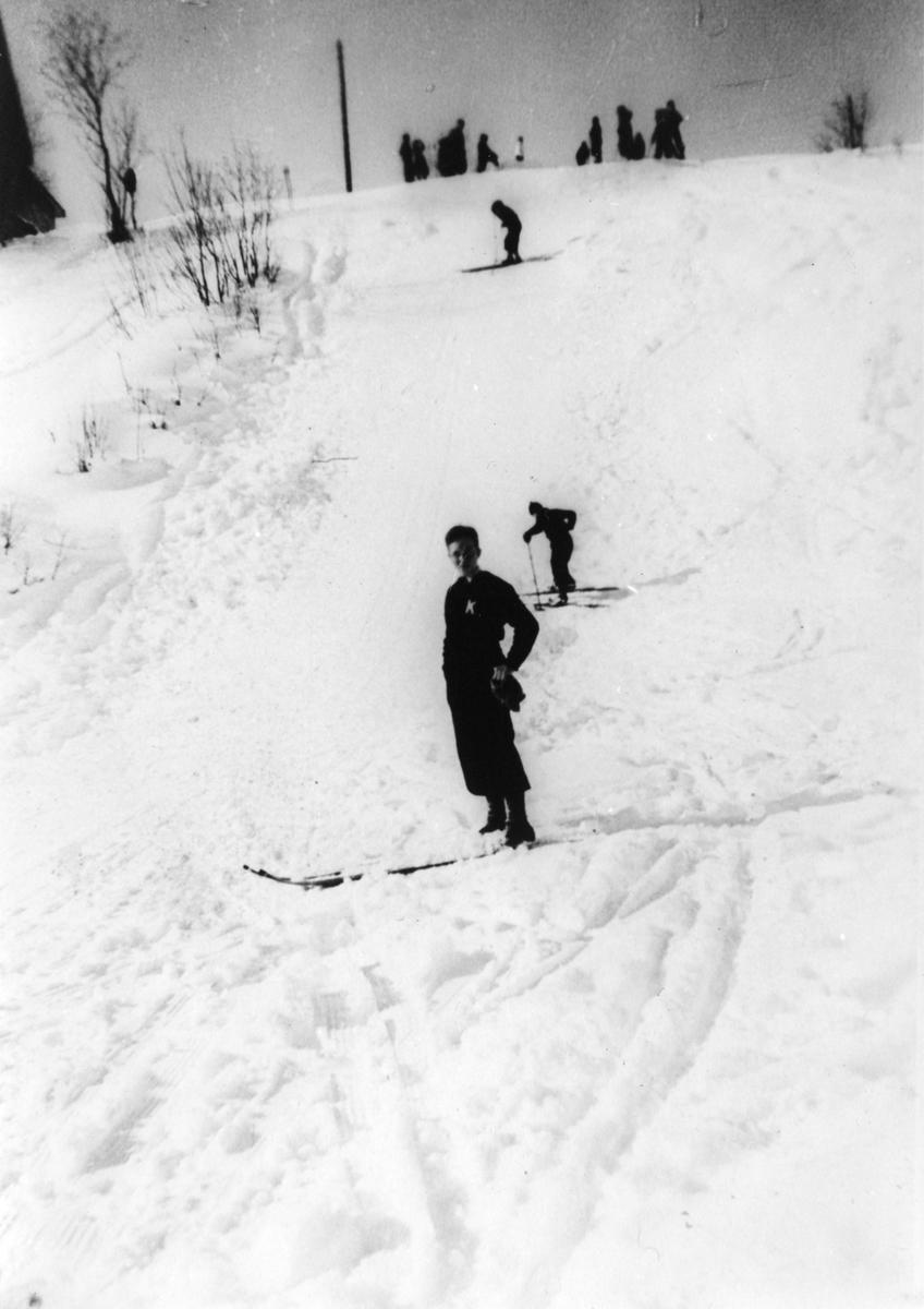 Local ski jumping practice
