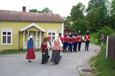 Soldater og marketenter. Foto/Photo