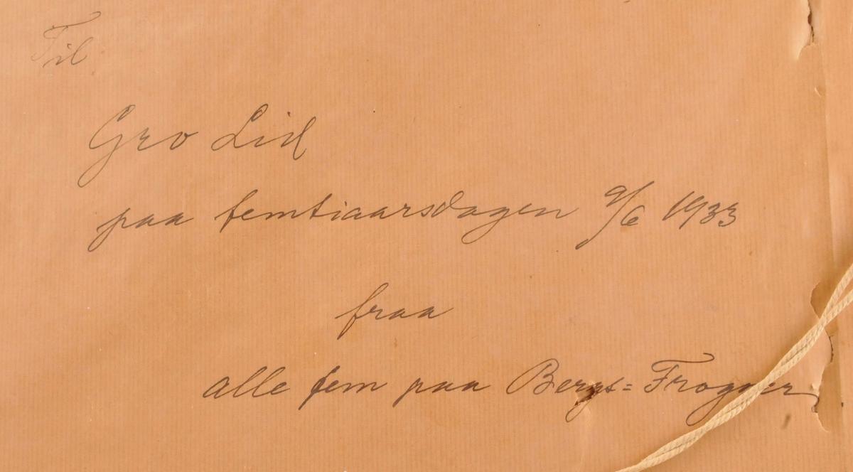 Motivet skal vere heimen til Rikard og Johanna Berge på Frogner i Skien.