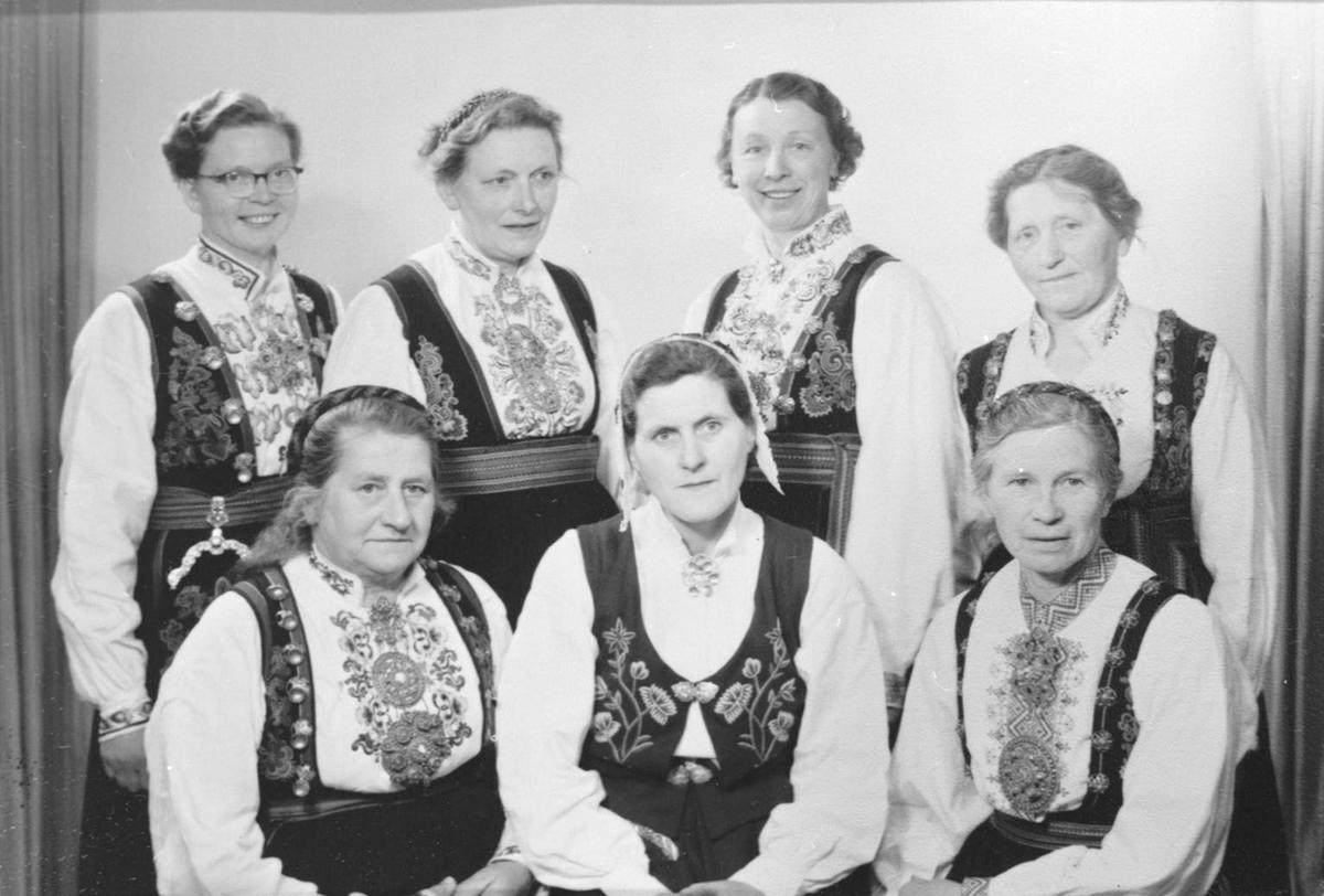Styret i Bø bondekvinnelag, ein gong mellom 1955-60.