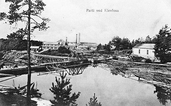 Klevfos Cellulose & papirfabrik. Foto/Photo