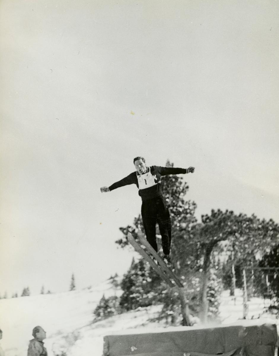 Reidar Ulland ski jumping in Reno, USA