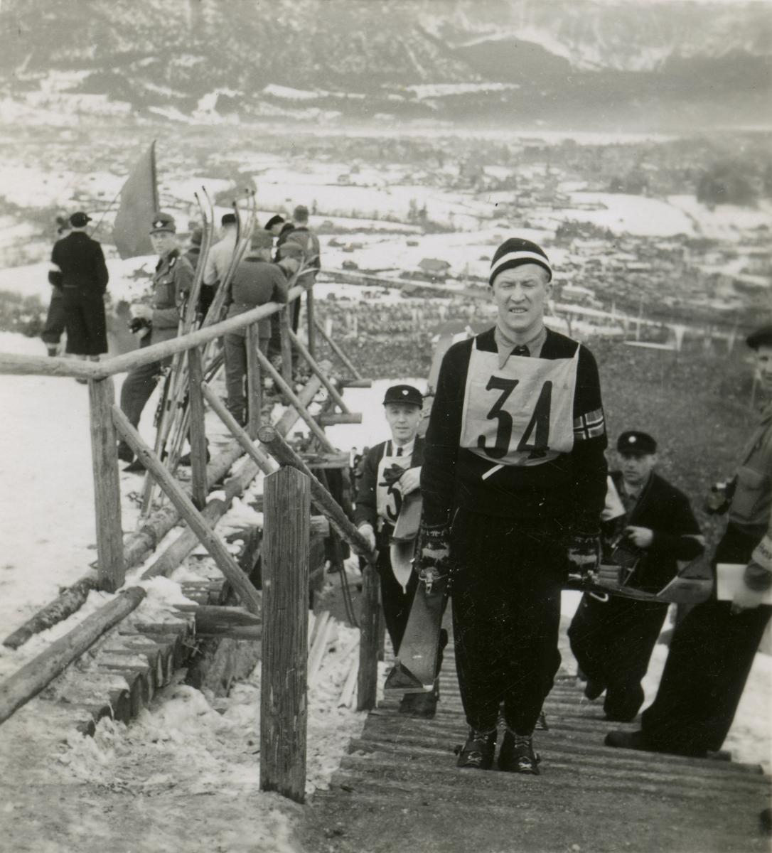 Athlete Birger Ruud in OG at Garmisch