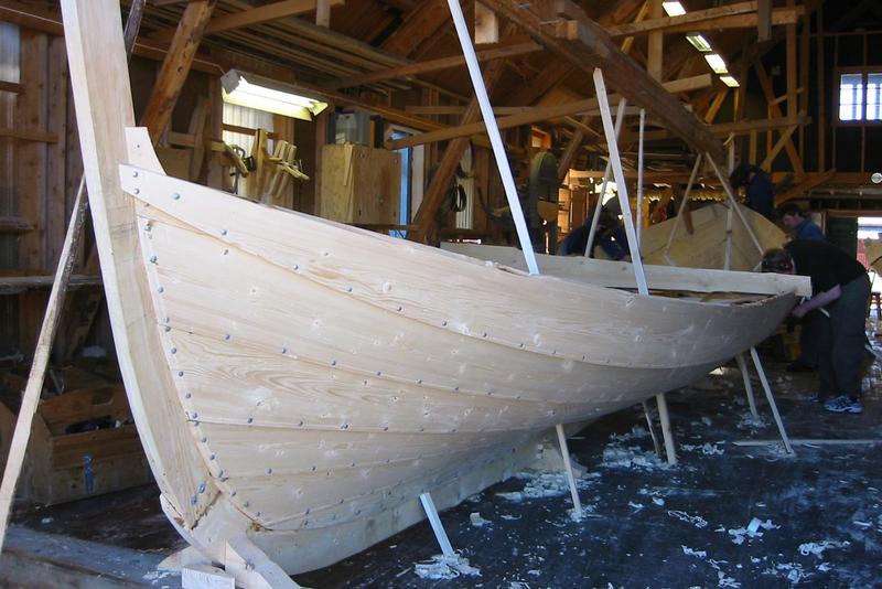 Læstabåten Skarv under bygging, 2004 (Foto/Photo)